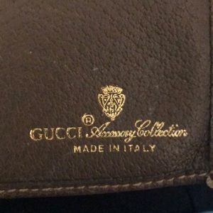 Gucci Bags - Gucci vintage brown leather trifold wallet